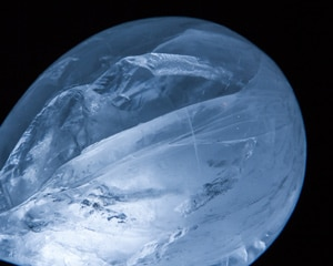 Photo of an ice globe